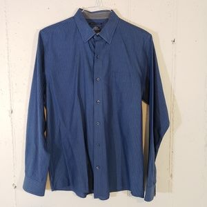 Van Heusen studio slim fit L blue pinstriped shirt